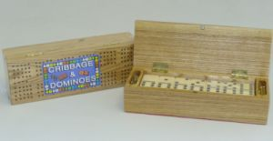 Cribbage Box with Dominoes #0028