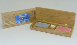 Cribbage Box with Cards #0029